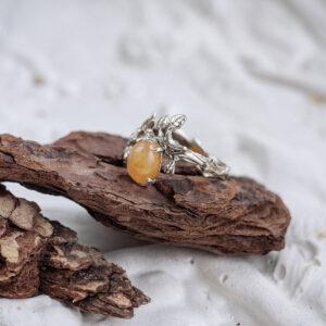 Лесное кольцо с опалом