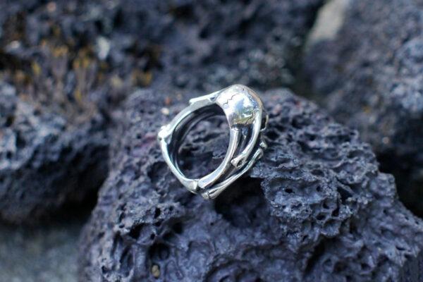 Брутальное кольцо с черепом и костями