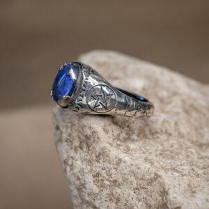 Мужское кольцо с пентаграммой