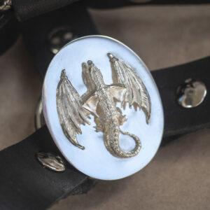 """Массивное серебряное кольцо дракон """"Виверна"""""""