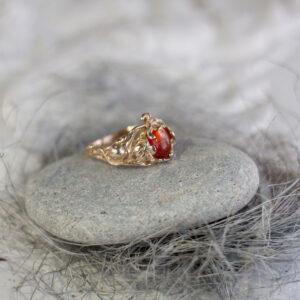 Эльфийское бронзовое кольцо с позолотой