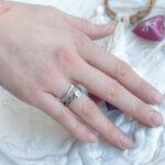 Пара серебряных колец «АКЕМИ» кольцо с лунным камнем