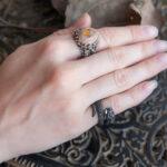 Кольцо на мизинец со змеей