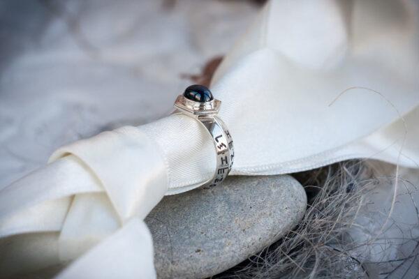 Кольцо Соломона с сапфиром