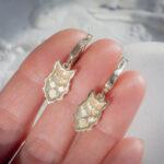 Золотые серьги с лисами