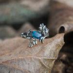 Серебряное кольцо с настоящим топазом