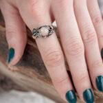 Лесное кольцо из серебра с полевым шпатом