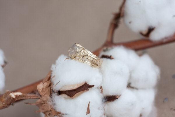 Сдвоенное золотое кольцо
