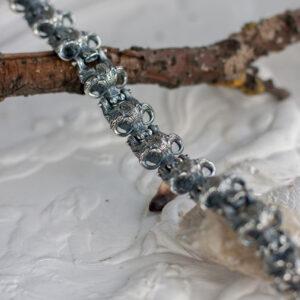 Мужской серебряный браслет с быками