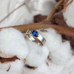 Помолвочное кольцо с сапфиром