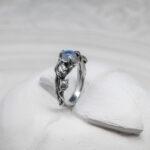 кольцо с цветком розой