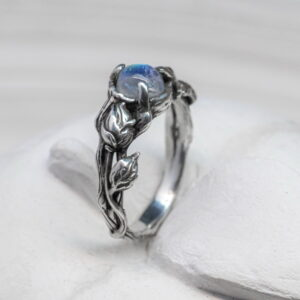 engagement sterling silver ring