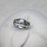 Кольцо веточка из серебра
