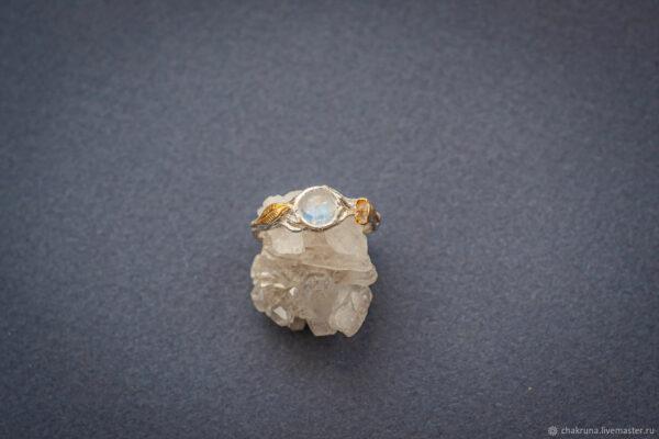 Серебряное кольцо в эльфийском стиле