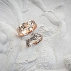 Необычные золотые Обручальные кольца