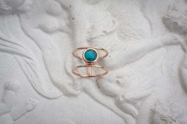 Золотое бохо кольцо