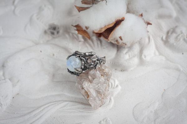 Серебряное эльфийское кольцо