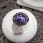 Массивное кольцо из серебра