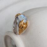 Серебряное кольцо с ангелами