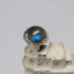 перстень с синим лабрадоритом