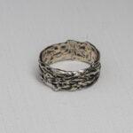 серебряное мужское кольцо ручной работы