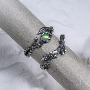 Сет из серебряных колец с опалом