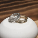 Стильные кольца из серебра и бронзы