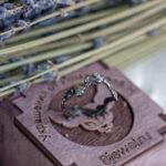 Нежное кольцо из черненого серебра