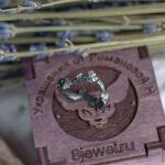 Серебряное кольцо в стиле флора