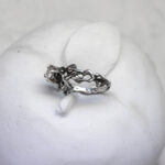 Эльфийское серебряное кольцо-веточка