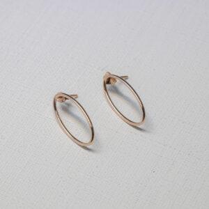 Серьги-кольца из красного золота