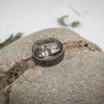 Парные кольца из серебра с настоящим бриллиантом