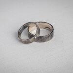 Обручальные фактурные кольца