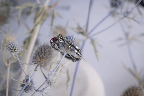 Эльфийское кольцо с рубином