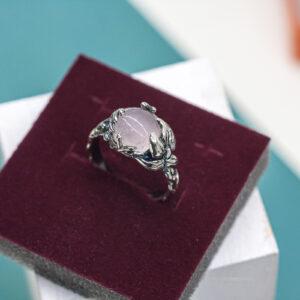 Нежное серебряное кольцо с цветком
