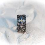 Готическое мужское кольцо с крестом