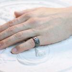 Готическое мужское кольцо с цитрином