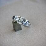 Кольцо Соломона с черным бриллиантом