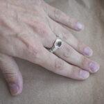 Серебряное мужское кольцо-амулет