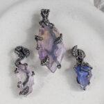 Серебряные кулоны с кристаллами