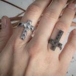 Серебряные кольца в стиле унисекс