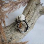 Кольцо из серебра с фактурой дерева