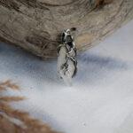 Серебряный кулон с кристаллом