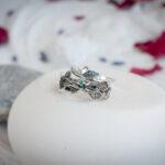 Эльфийское кольцо с изумрудом