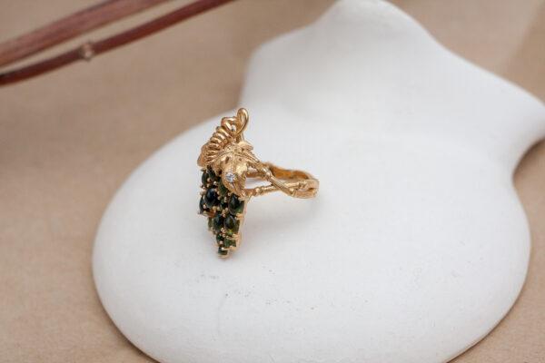 Роскошное кольцо с турмалинами