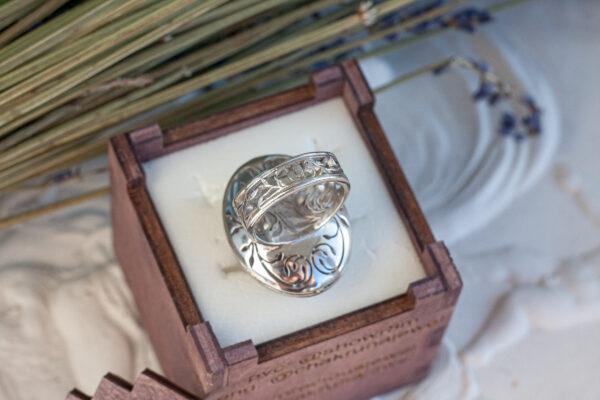 Массивное золотое кольцо с аметистом и бриллиантами