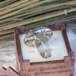 Роскошное кольцо из белого золота