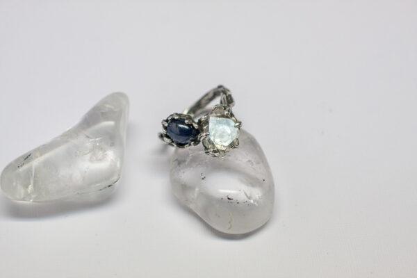 Серебряное кольцо с кристаллом Херкимера