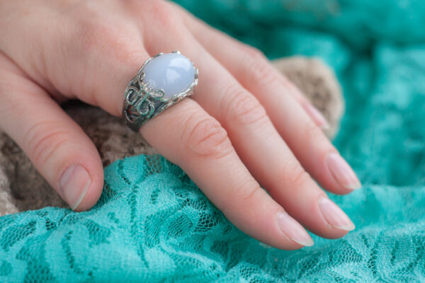 Серебряный женский перстень