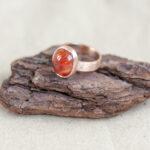 Золотое кольцо с карнеолом